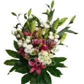 Assorted flower bouquet with lilies