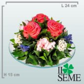 Glass Plate arrangement with Stabilized Roses